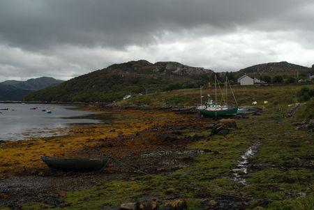 Old Fishing-boat marina photo