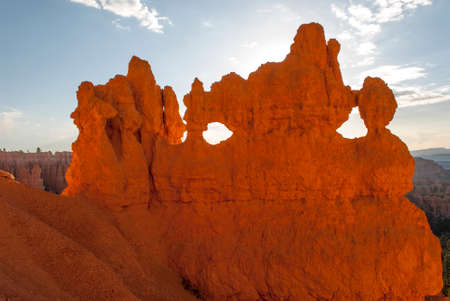 View of the fantastical colours and formations of the Bryce Canyon National Park. photo