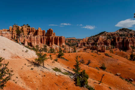 fantastical: View of the fantastical colours and formations of the Bryce Canyon National Park. Stock Photo
