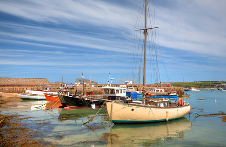 scilly: Cornish sailing and fishing boats, St Mary s Harbour, Isles of Scilly, Cornwall, England