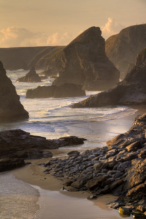 Bedruthan Steps, Cornwall, England photo