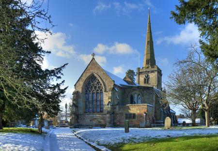 English church in winter
