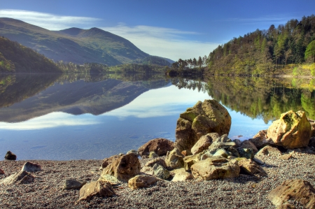 Thirlmere, the Lake District, Cumbria, England Stock Photo - 23011244