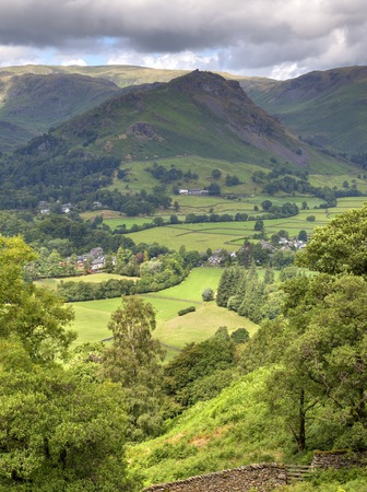 Aerial view of Grasmere, Cumbria, England  Stock Photo - 24516476