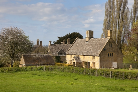 Cottages in the small village of Aston subedge near Chipping Campden, Gloucestershire, England  photo
