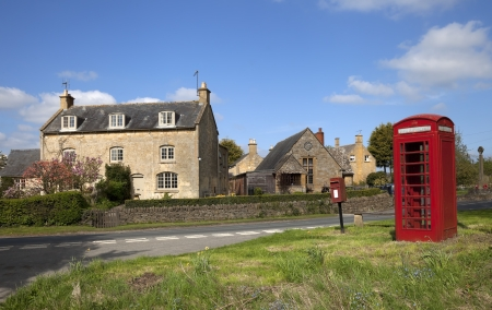 cotswold: The pretty Cotswold village of Aston Subedge near Chipping Campden, Gloucestershire, England  Stock Photo
