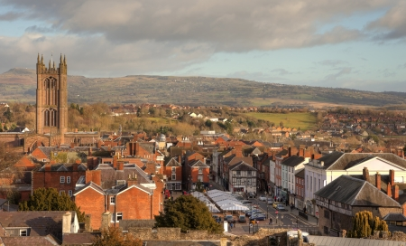 The historic market town of Ludlow, Shropshire, England