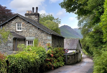 lake district: Grasmere village, the Lake District, Cumbria, England