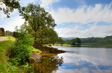 lake district england: Rydal Water near Grasmere, Cumbria, the Lake District, England