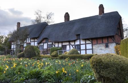 avon: Anne Hathaways Cottage, Stratford upon Avon, Warwickshire, England.