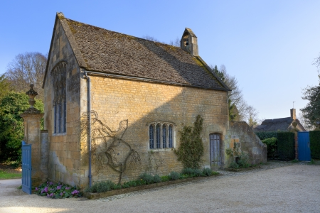 cotswold: Small Cotswold chapel, Gloucestershire, England. Stock Photo