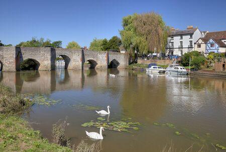 De rivier de Avon in Bidford-on-Avon, Warwickshire, Engeland.