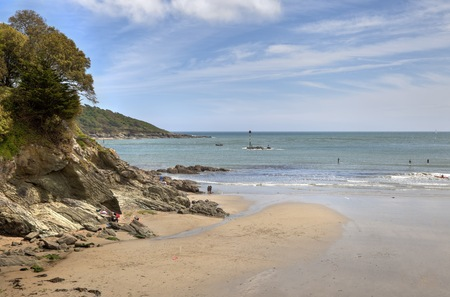 North Sands in sunshine, Salcombe, Devon, England. photo