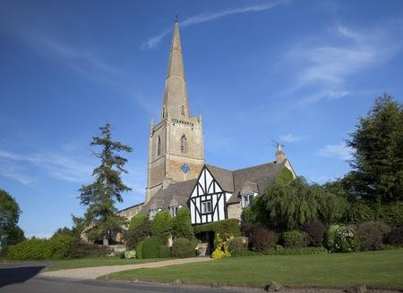 warwickshire: The tall church at Tredington, Warwickshire, England