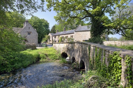 wold: Upper Swell, a Cotswold village near Stow on the Wold, Gloucestershire, England  Stock Photo