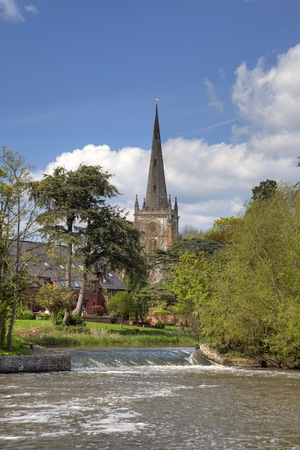 stratford upon avon: Burial place of William Shakespeare, Stratford upon Avon, Warwickshire, England