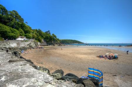 Summertime at North Sands beach, Salcombe, Devon, England.