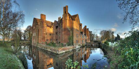 Harvington Hall, Worcestershire, Engeland. Stockfoto