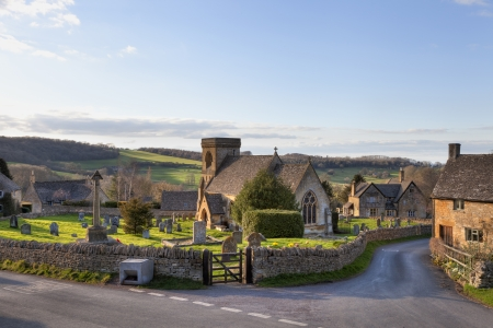 The pretty Cotswold church at Snowshill, Gloucestershire, England. Stockfoto