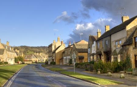 cotswold: Il villaggio di Cotswold di Broadway, Worcestershire, in Inghilterra. Archivio Fotografico