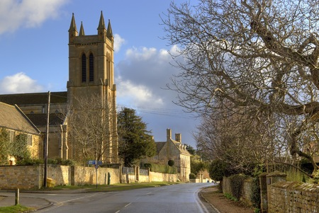 cotswold: The Cotswold village of Broadway, Worcestershire, England.