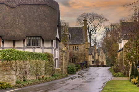 cotswold: Pretty architecture at Stanton, Gloucestershire, England.