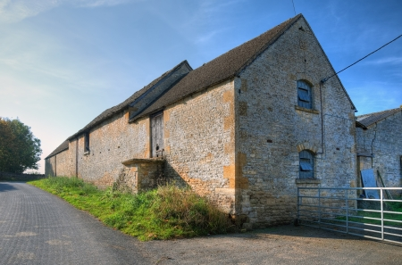Cotswold barn in the village of Condicote, Gloucestershire, England. Stockfoto