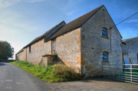 Cotswold barn in the village of Condicote, Gloucestershire, England. Archivio Fotografico