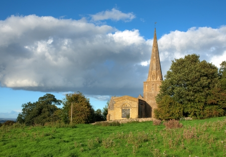 coutryside: Saintbury church near Chipping Campden, Gloucestershire, England. Stock Photo