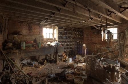 unused: Old farm workshop, Shropshire, England.