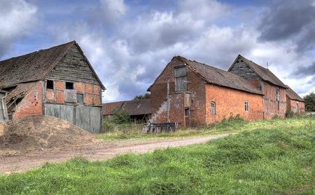 Old Warwickshire farm, England. Archivio Fotografico