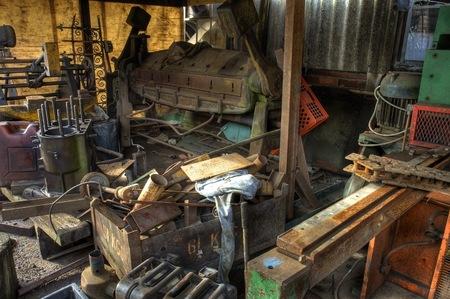 unused: Scrap machinery, Worcestershire, England.