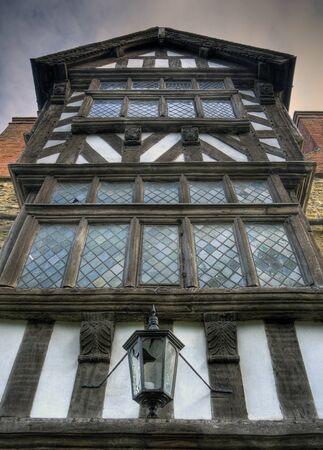 tudor: Tudor box frame house, Ludlow, Shropshire, England.
