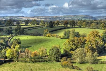Shropshire countryside near Ludlow, England.
