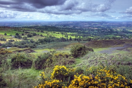 View from Clee Summit, Shropshire, England. Stockfoto