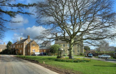 warwickshire: Barton-on-the-Heath village in spring, Warwickshire, England. Stock Photo