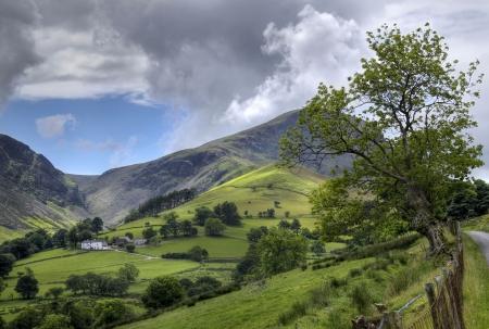 fells: Looking towards the Derwent Fells, Cumbria, England. Stock Photo