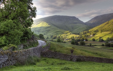 Looking towards Great Tongue from Easedale near Grasmere, Cumbria. Stock Photo - 24761311