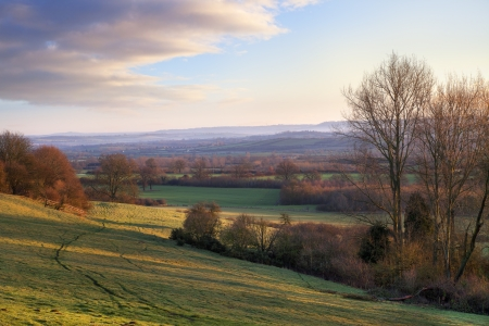 Countryside near Ebrington, Chipping Campden, Gloucestershire, England  photo