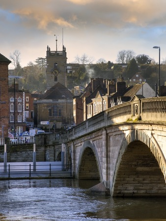 The Worcestershire town of Bewdley, England