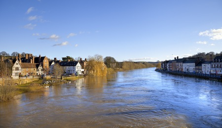 High water levels on the River Severn, Bewdley, Worcestershire, England