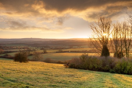 Farmland near Chipping Campden, Cotswolds, Gloucestershire, England  photo