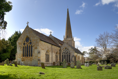 The old Cotswold church at Mickleton near Chipping Campden, Gloucestershire, England