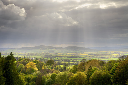 View over Buckland near Broadway, Gloucestershire, England