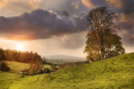 View from Lidcombe Hill near Stanway, Gloucestershire, England