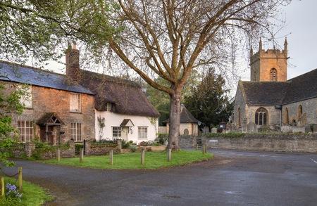 The pretty Worcestershire village of Bretforton, England