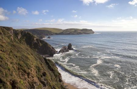 devon: View towards Hope Cove, Devon, England