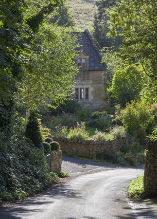 cotswold: Cotswold cottage at Snowshill, Worcestershire, England Stock Photo