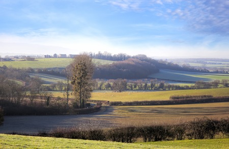 worcestershire: View over the Lenches from Rous Lench, Worcestershire, England. Stock Photo