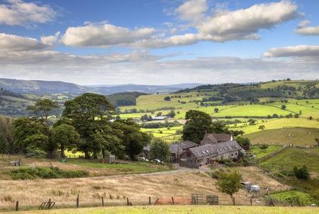 Farm op Stiperstones, Shropshire, Engeland Stockfoto